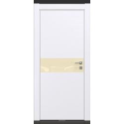 RADA Межкомнатные двери X-Line исполнение 2 ДО Blanc - (Белая эмаль) 3 (светло-коричневый лакобель)