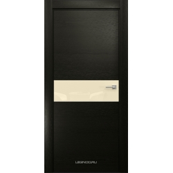 RADA Межкомнатные двери X-Line исполнение 2 ДО Double black (Дабл блэк) 4 (светло-бежевый лакобель )