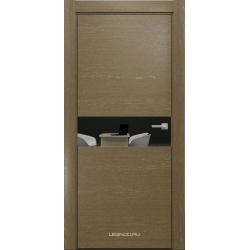 RADA Межкомнатные двери X-Line исполнение 2 ДО Mokko ice (Мокко айс) 10 (графитовое зеркало)