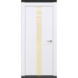 RADA Межкомнатные двери X-Line исполнение 3 ДО Blanc - (Белая эмаль) 3 (светло-коричневый лакобель)