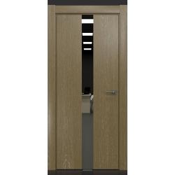 RADA Межкомнатные двери X-Line исполнение 3 ДО Mokko ice (Мокко айс) 10 (графитовое зеркало)