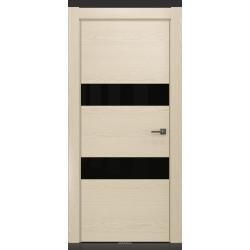 RADA Межкомнатные двери X-Line исполнение 4 ДО1 Ice cream (Айс крим) 2 (черный лакобель)