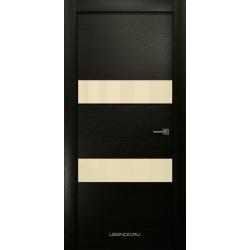 RADA Межкомнатные двери X-Line исполнение 4 ДО1 Double black (Дабл блэк) 4 (светло-бежевый лакобель )