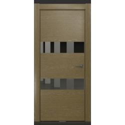 RADA Межкомнатные двери X-Line исполнение 4 ДО1 Mokko ice (Мокко айс) 10 (графитовое зеркало)