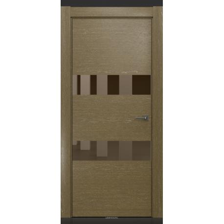 RADA Межкомнатные двери X-Line исполнение 4 ДО1 Mokko ice (Мокко айс) 11 (бронзовое зеркало)