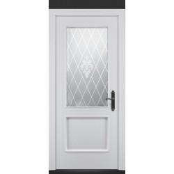 RADA Межкомнатные двери Валенсия ДО1 Blanc - (Белая эмаль) (МДФ)