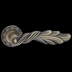 Ручка дверная Лучия бронза античная матовая