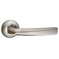 Ручка дверная Фуроре никель матовый/никель блестящий
