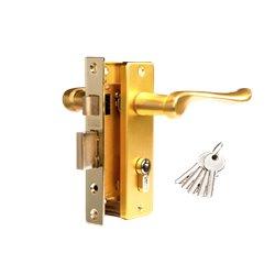 Дверной комплект Tixx LH 7037-125 SB латунь матовая