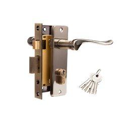 Дверной комплект Tixx LH 7037-125 AB бронза античная
