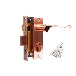 Дверной комплект Tixx LH 7037-125 AС медь античная