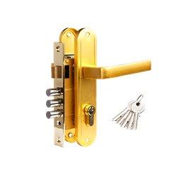 Дверной комплект Tixx LH 7036-126 SB латунь матовая