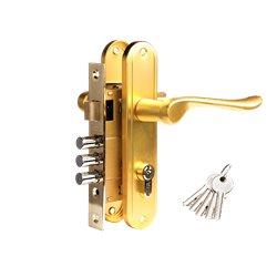 Дверной комплект Tixx LH 7036-127 SB латунь матовая