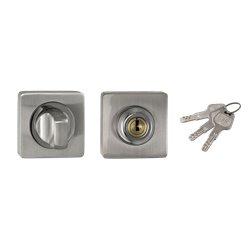 Завертка с ключом Ренц BK-K 02 SN/NP никель матовый/никель блестящий