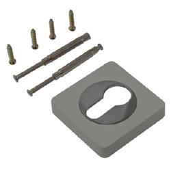 Накладка Ренц INET 02 MBN/CP матовый черный никель/хром блестящий